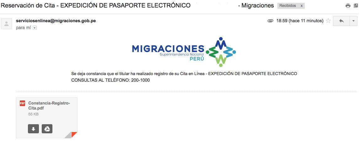 Citas Online Migraciones 20015